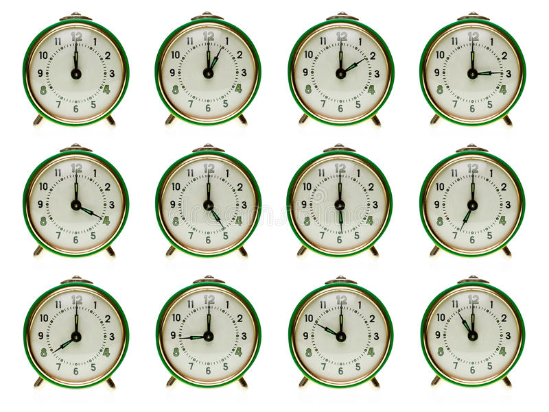 Download Alarm clock set stock photo. Image of afternoon, classic - 11844160
