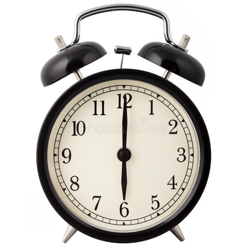 alarm clock showing six o clock stock photo image of awake rh dreamstime com Digital Clock Face Blank Clock Clip Art