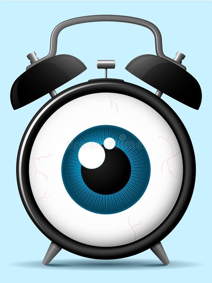 Download Alarm Clock With Staring Eyeball Royalty Free Stock Image - Image: 8943056