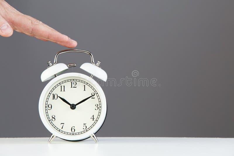 Alarm clock. Time to wake up. Classic design of alarm clock. stock photography