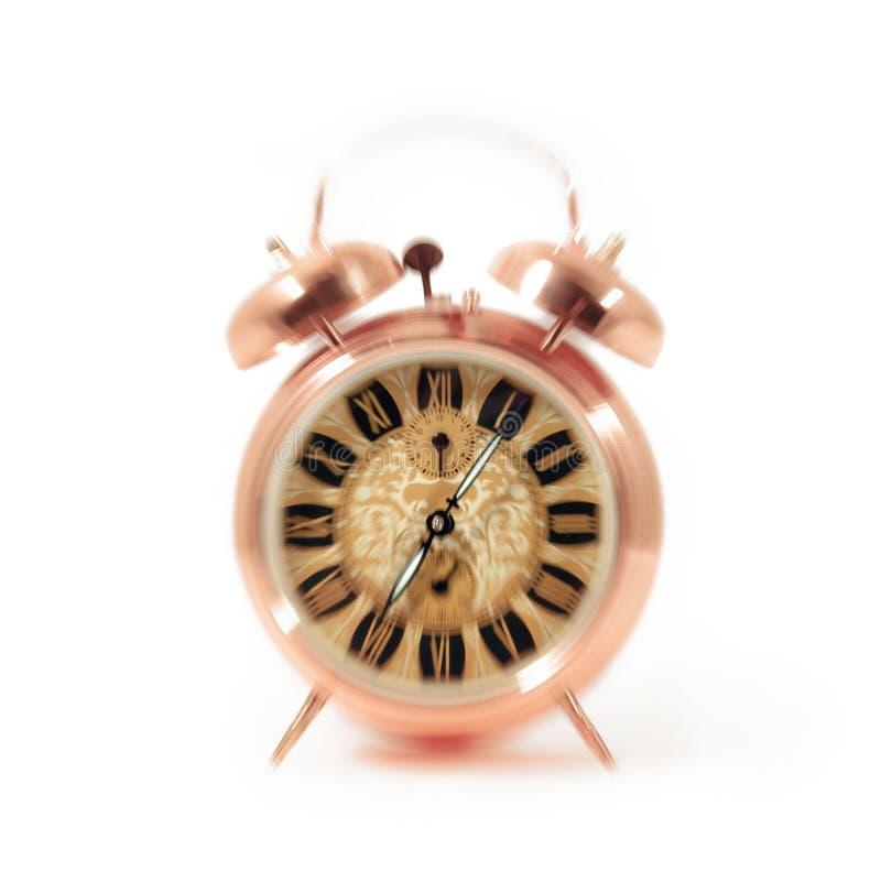 Alarm clock wake up time isolated on white background royalty free stock photo