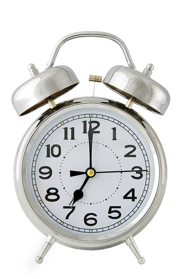 Alarm clock on white royalty free stock image