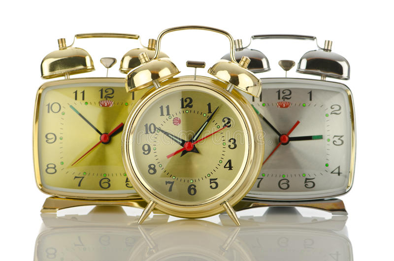 Download Alarm clock  on white stock photo. Image of single, face - 25871066