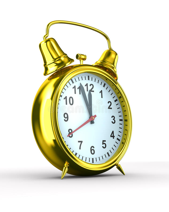 Download Alarm Clock On White Background Stock Illustration - Illustration of classical, bell: 16457274
