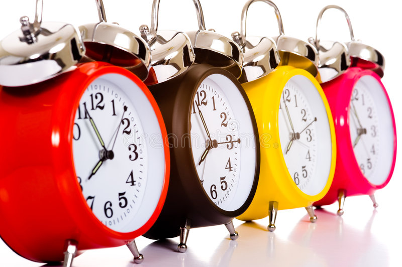 Download Alarm Clocks stock image. Image of schedule, telling, hand - 5478561