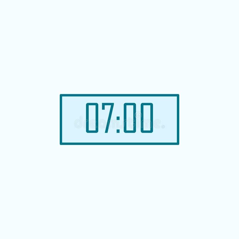 Alarm 2 colored line icon. Simple colored element illustration. alarm outline symbol design from Scientifics study set on blue. Background vector illustration