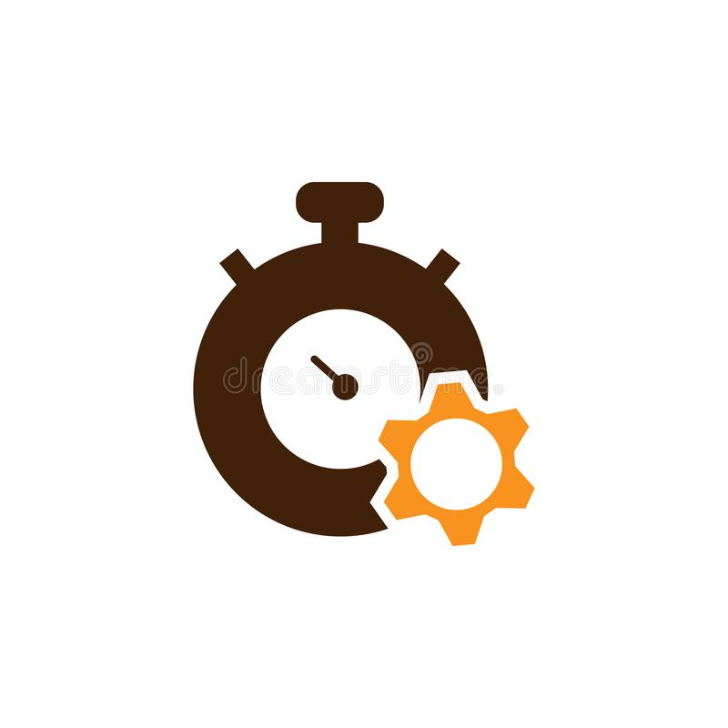 Alarm, deadline icon. Element of Web Optimization icon for mobile concept and web apps. Detailed Alarm, deadline icon can be used. For web and mobile on white royalty free illustration