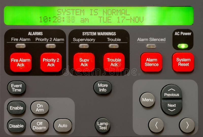Download Alarm Panel Stock Image - Image: 26311861