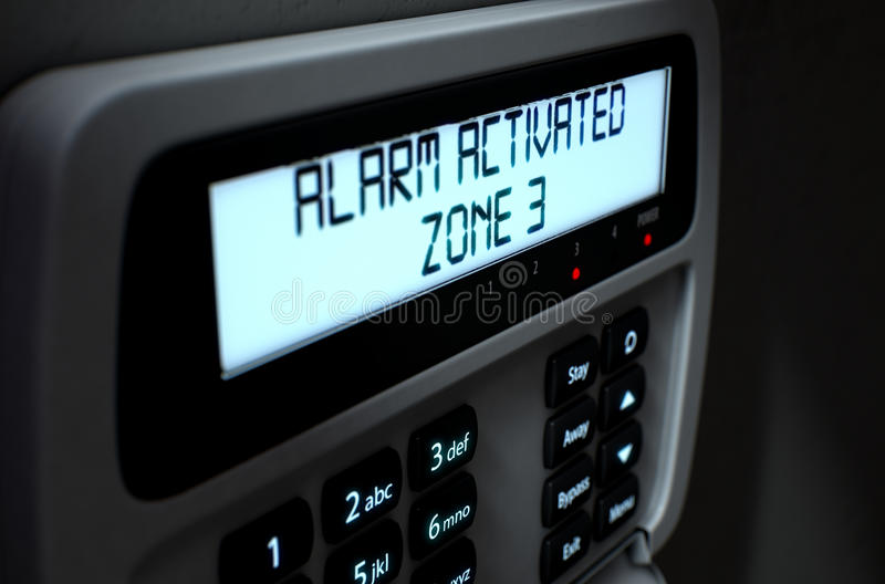 Alarm Panel Activated royalty free illustration
