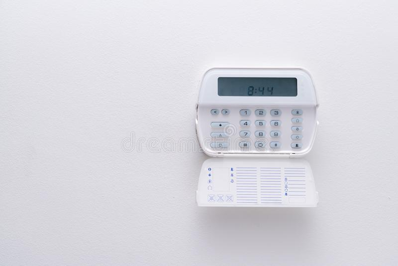 Alarm system of an apartment, house of business office. Surveillance and protection console royalty free stock photography