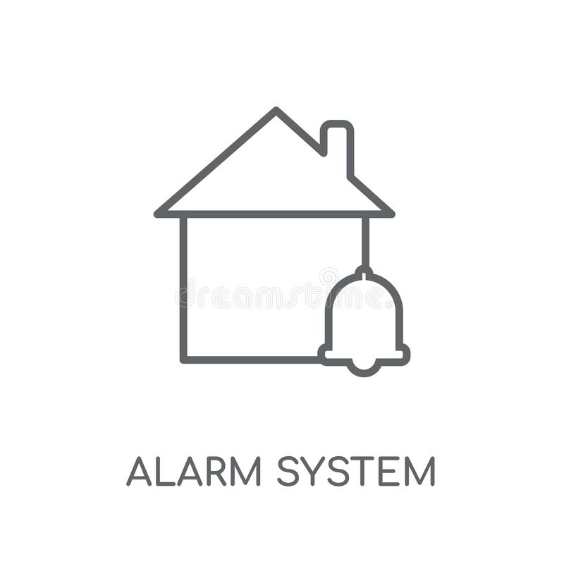 alarm system linear icon. Modern outline alarm system logo conce vector illustration