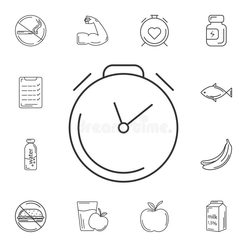 Alarm Time icon. Simple element illustration. Alarm Time symbol design from Gym and Health collection set. Can be used for web and stock illustration