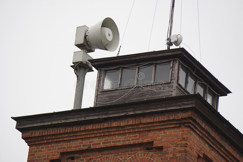 Alarm waakzame sirene stock foto