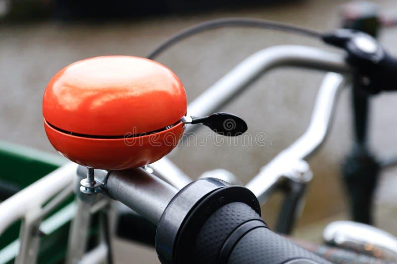 Alarma anaranjada de la bicicleta imagenes de archivo