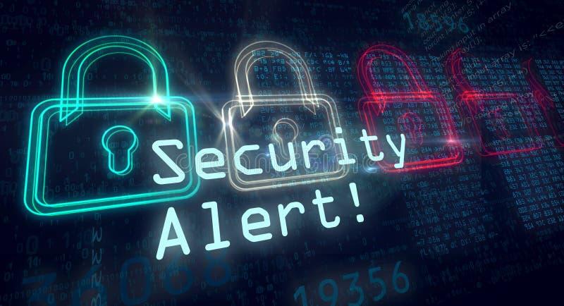 Alarma bezpieczeństwa pojęcie zdjęcie royalty free