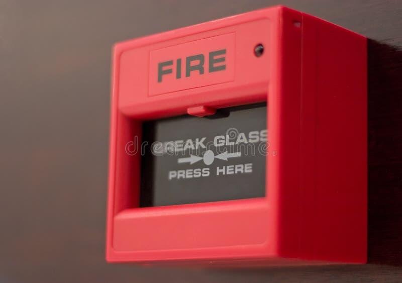 Alarma de incendio fotos de archivo