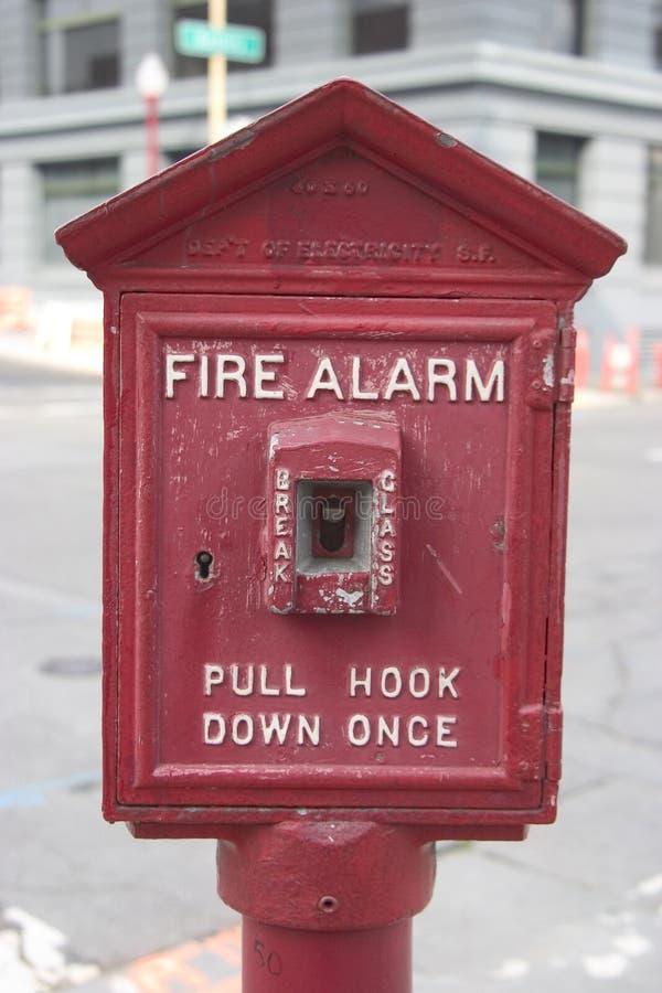 Alarma de incendio de la ciudad fotografía de archivo