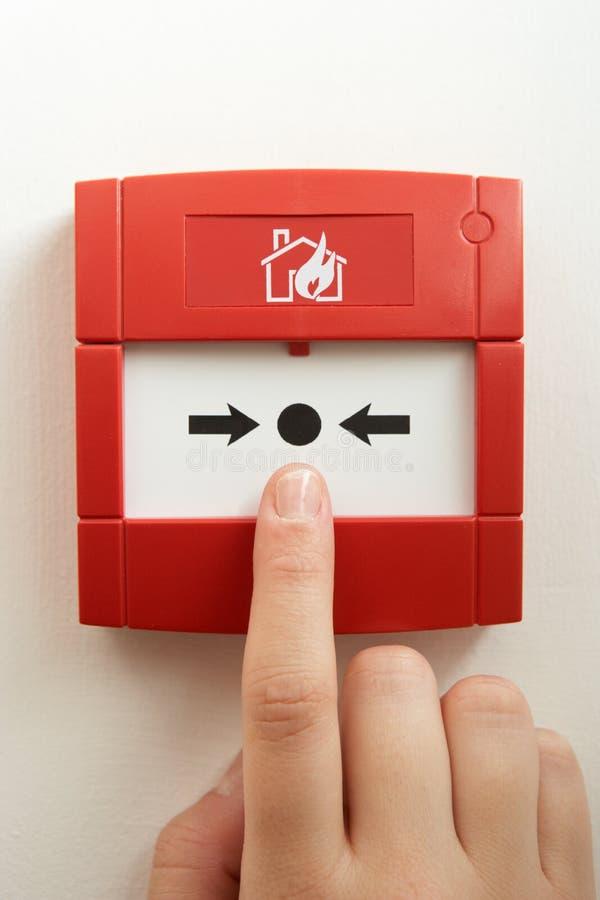 alarma de incendio del Romper-vidrio imagen de archivo