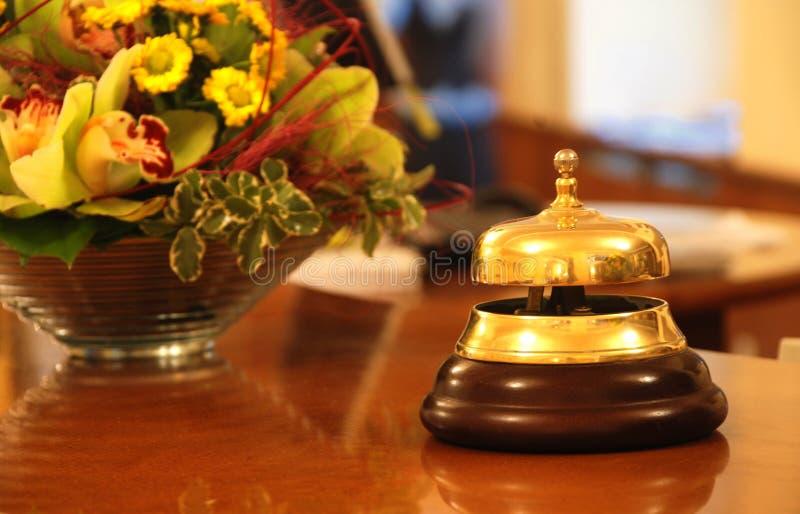 Alarma de la recepción del hotel foto de archivo