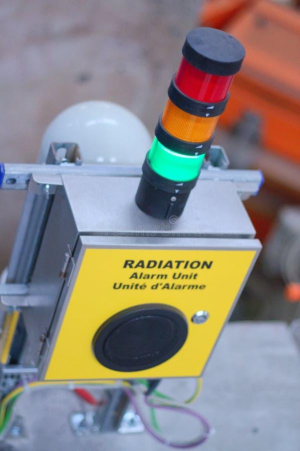 Alarma de radiación nuclear foto de archivo libre de regalías