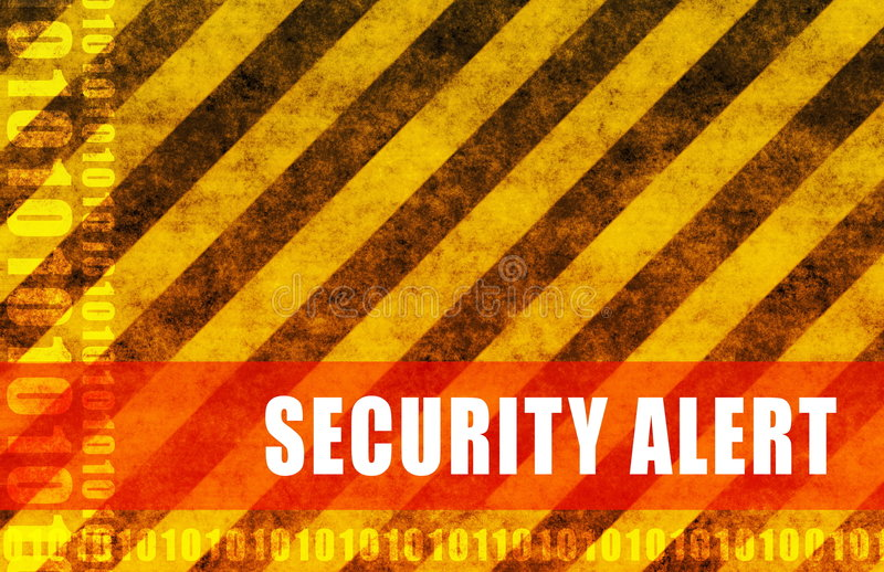 Alarma de seguridad ilustración del vector
