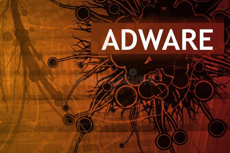 Alarma de seguridad de Adware ilustración del vector