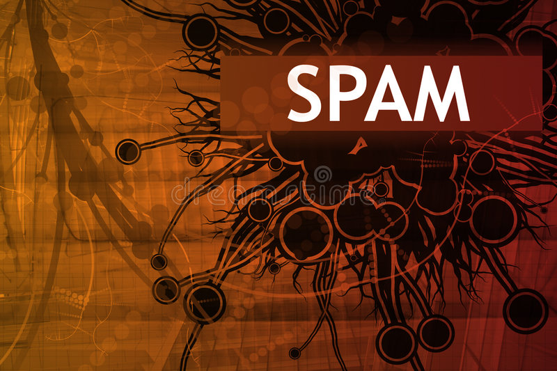 Alarma de seguridad del Spam libre illustration