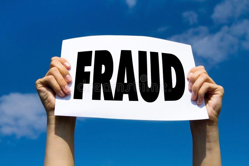 Alarma del fraude imagen de archivo libre de regalías