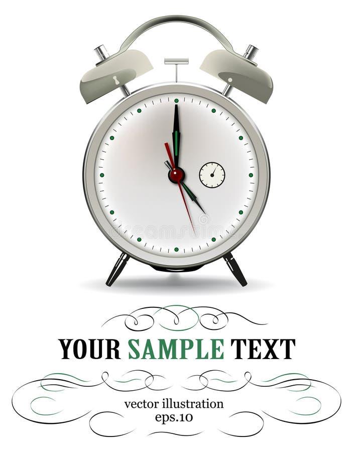 Alarma del reloj de reloj ilustración del vector