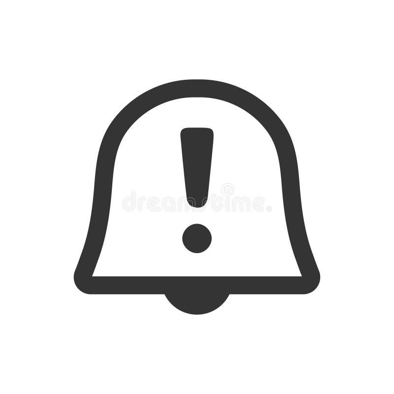 Alarma, icono del recordatorio stock de ilustración