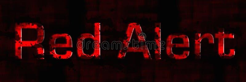 Alarma roja stock de ilustración