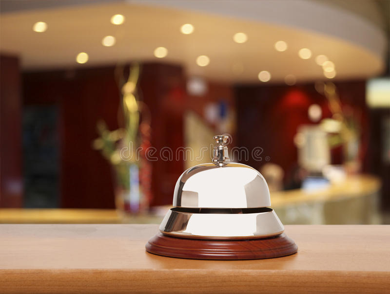 Alarma vieja del hotel imagen de archivo