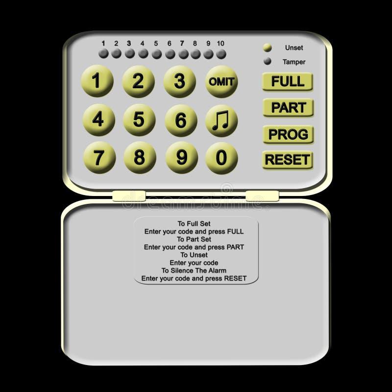 Alarmanlage-Tastaturblock stock abbildung