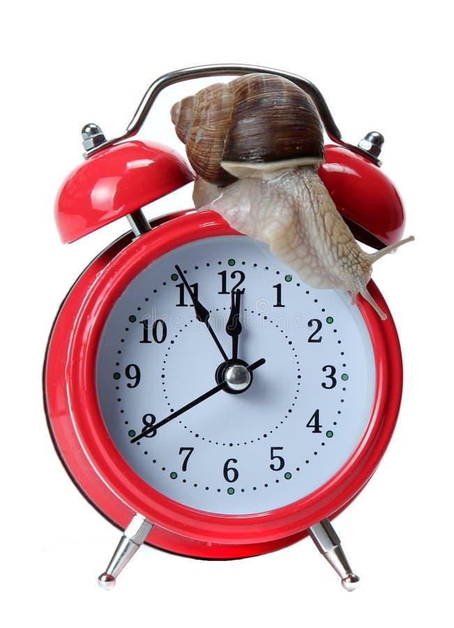 Alarmar-alarma roja con el caracol fotos de archivo