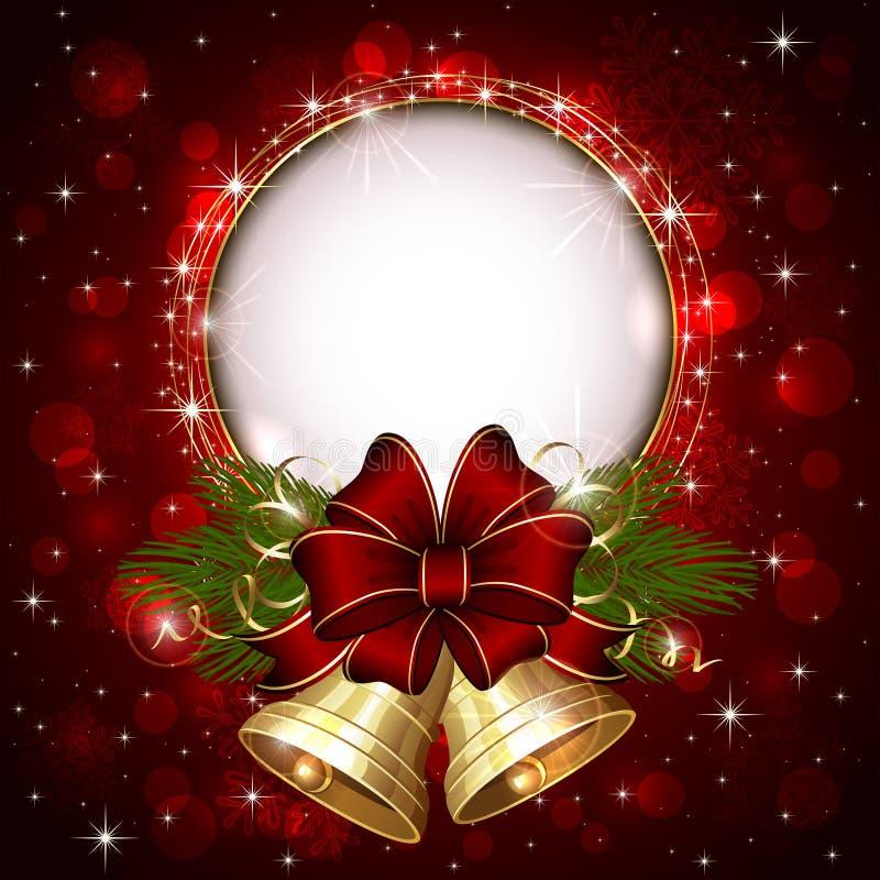 Alarmas de la Navidad del oro stock de ilustración