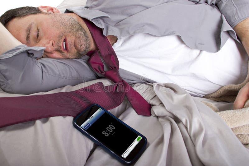 Alarme adormecido foto de stock
