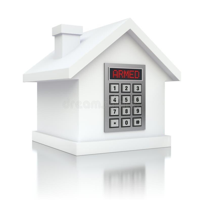 Alarme armée de sécurité de maison illustration de vecteur