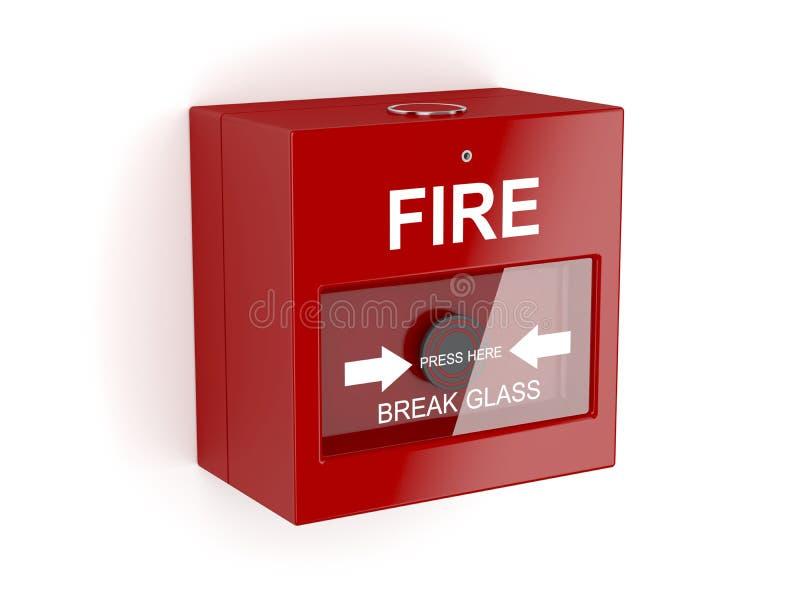 Alarme d'incendie rouge illustration libre de droits