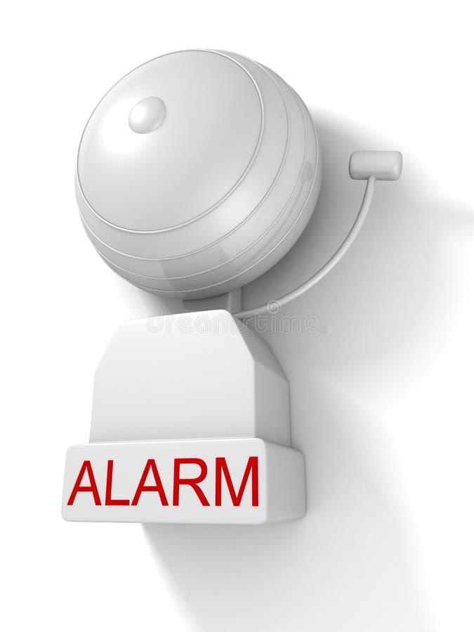 Alarme d'incendie sur le fond blanc illustration libre de droits