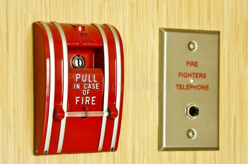 Alarme de incêndio vermelho foto de stock royalty free