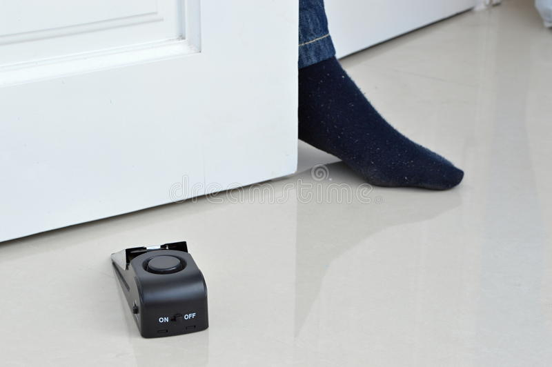 Alarme de porte électronique photographie stock