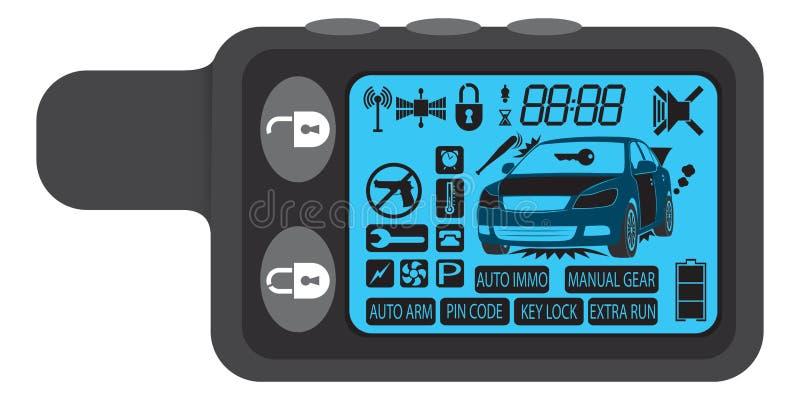 Alarme de véhicule illustration stock