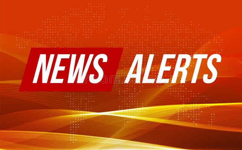 Alarme der letzten Nachrichten Weltnachrichten mit Welle backgorund Fernsehnachrichtenentwurf, modernes Konzept, Vektorillustrati vektor abbildung