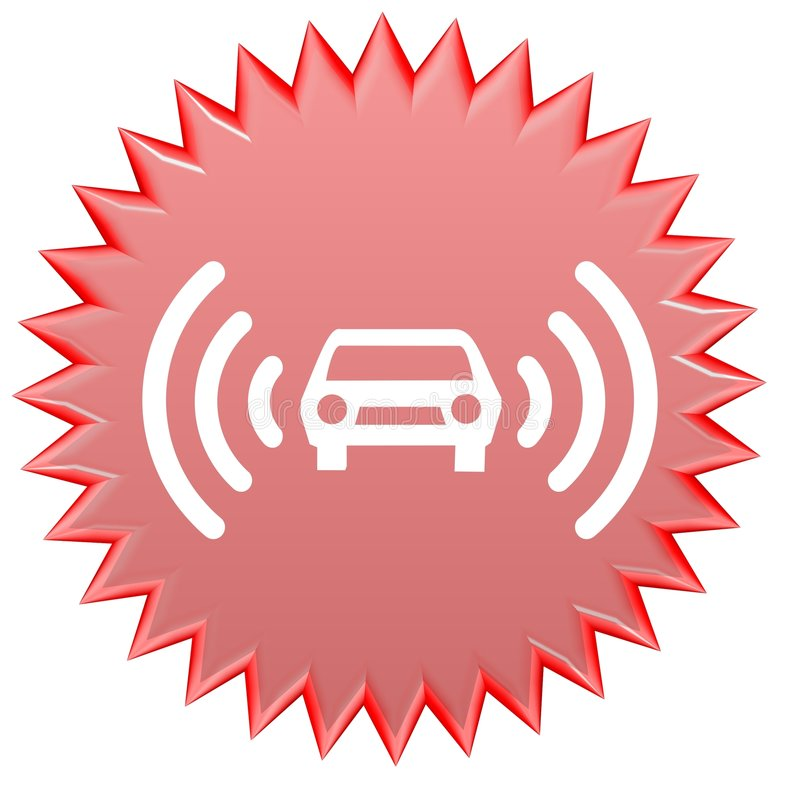 Alarme do carro ilustração do vetor