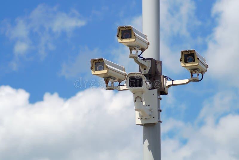 Alarme exterior do vídeo da proteção do equipamento de segurança da câmara de segurança fotografia de stock royalty free