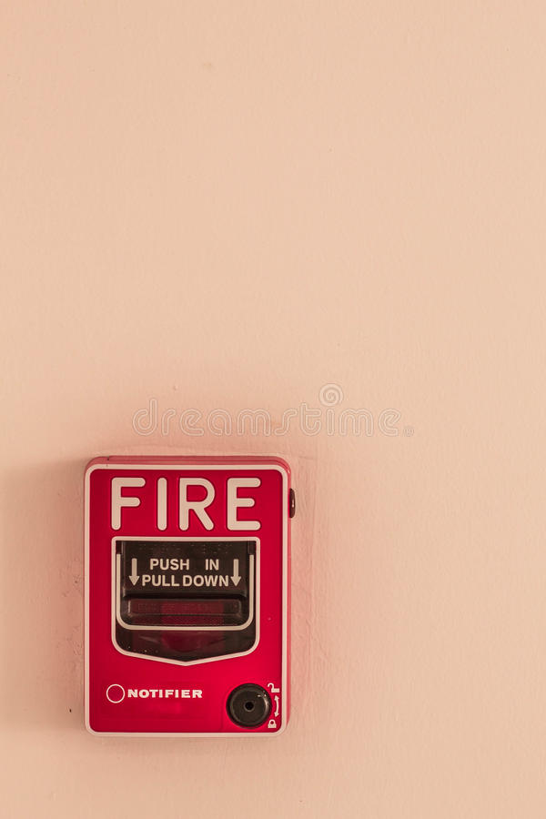Alarme para alertar o fogo fotografia de stock royalty free
