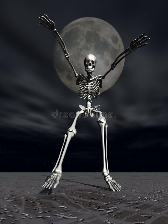 Alarme squelettique de Veille de la toussaint illustration libre de droits
