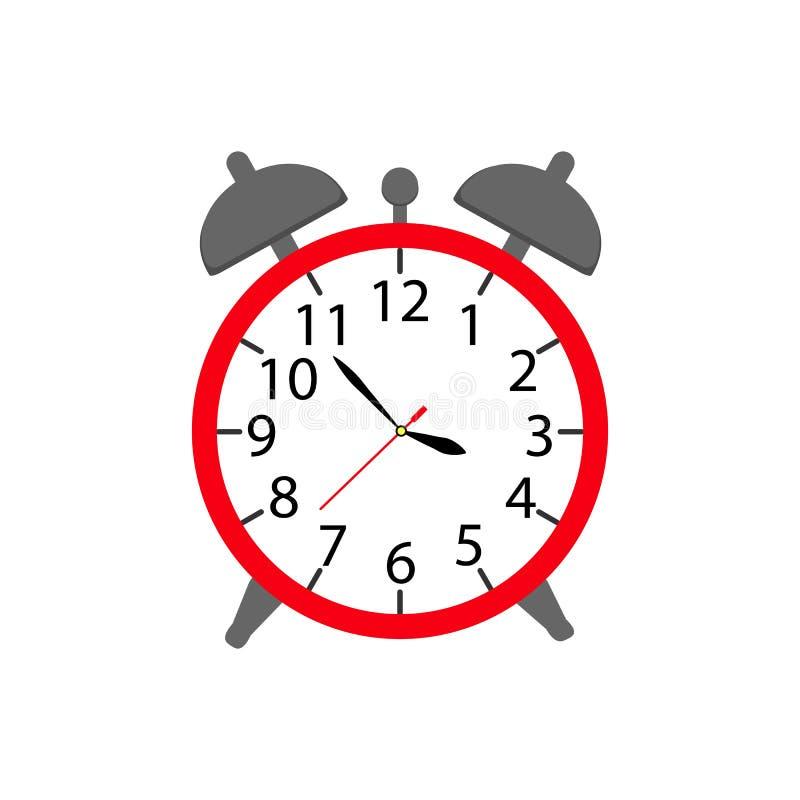 Alarmera upp en klockasymbol i färgware vektor illustrationer