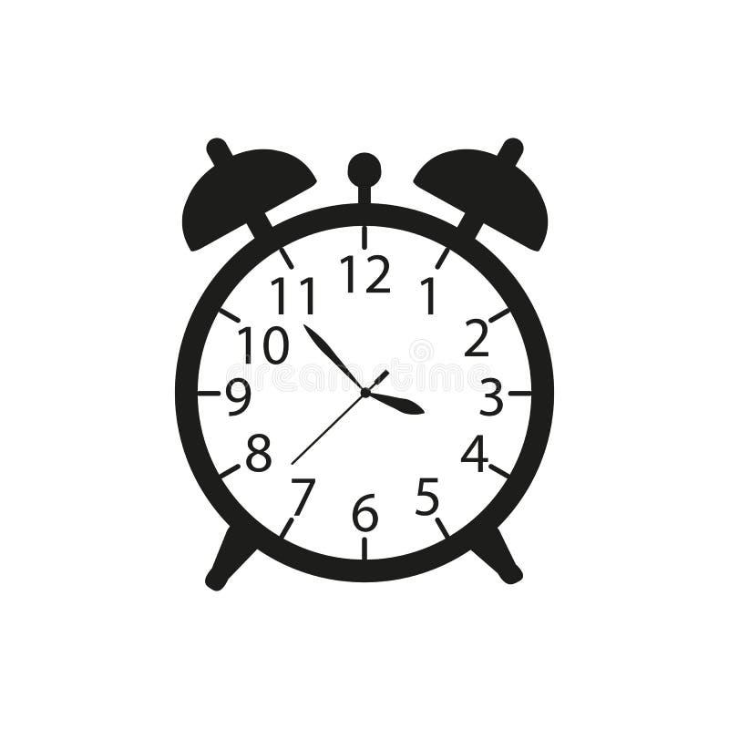 Alarmera upp en klockasymbol i svarta ware royaltyfri illustrationer