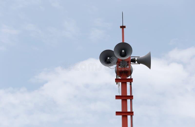 Alarmes d'émission de haut-parleurs image libre de droits